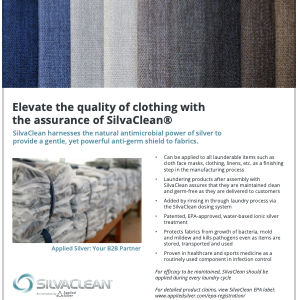 SilvaClean's application in retail and manufacturing